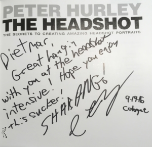Peter Hurley The Headhot Widmung