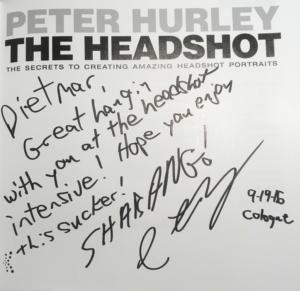 Peter Hurley The Headhot Widmung