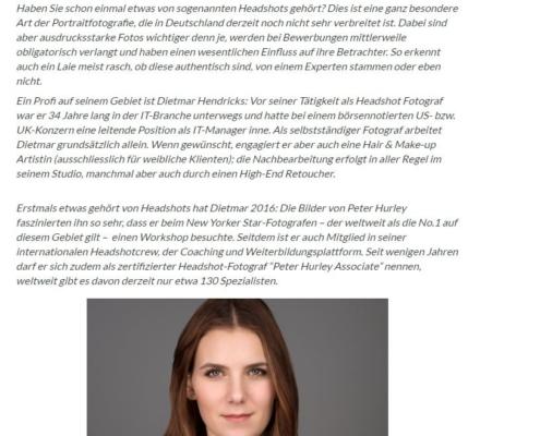ProntoPro Experten Interview zum Thema Headshot